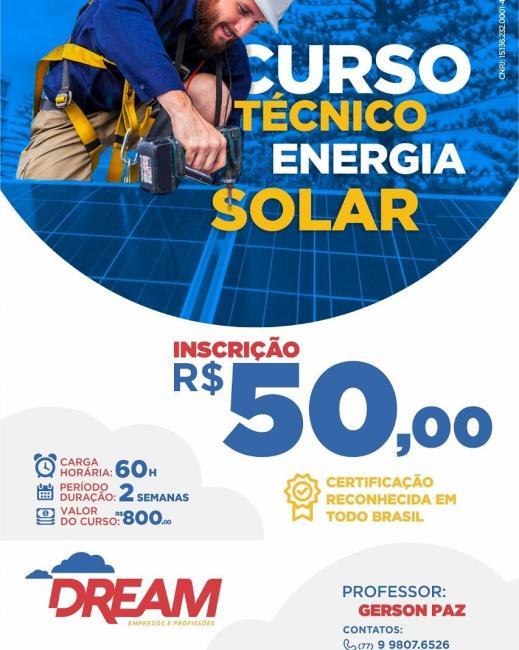 São Gonçalo do Gurguéia irá receber curso técnico em energia Solar