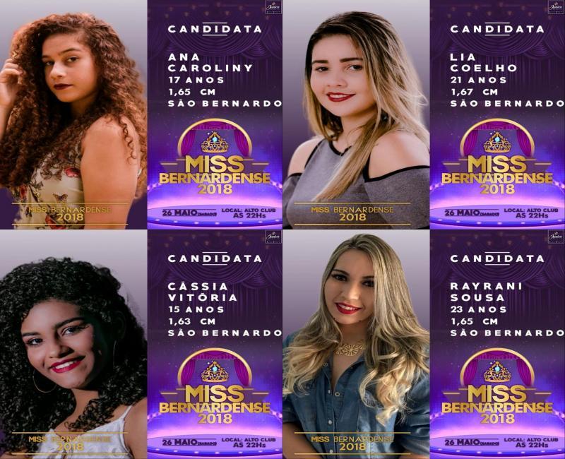 Miss Bernardense 2018 acontece neste sábado (26) e promete ser um dos maiores eventos da região