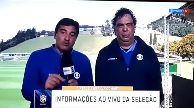 Walter Casagrande 'dorme' em transmissão ao vivo do SporTV