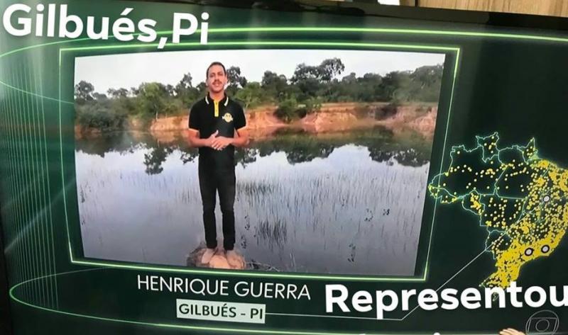 """Gilbueense Henrique Guerra aparece na Rede Globo no quadro """"Que Brasil você quer para o futuro?"""""""