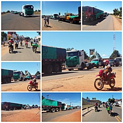 População de Monte Alegre do Piauí realiza manifestação