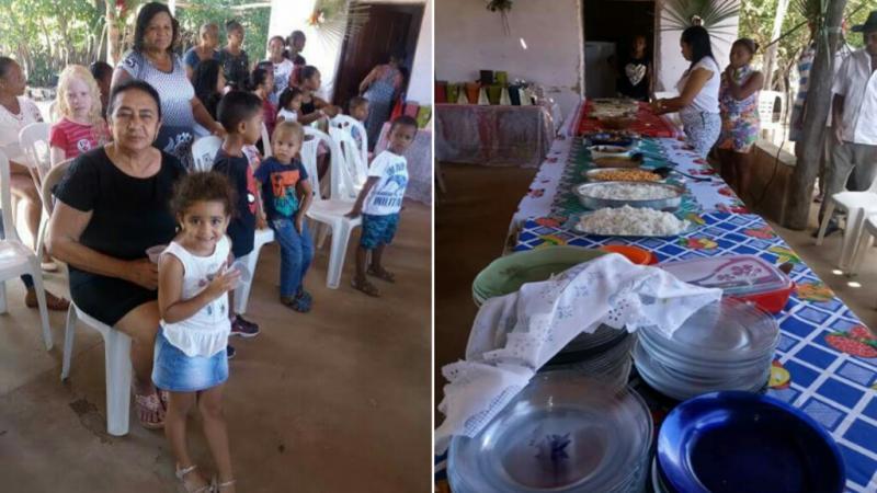 AMARANTE: Comunidade Caldeirão realiza almoço em Homenagem as Mães