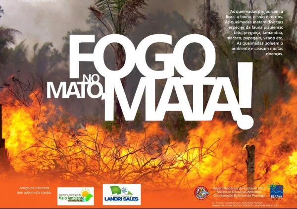 Campanha orienta população a prevenir queimadas
