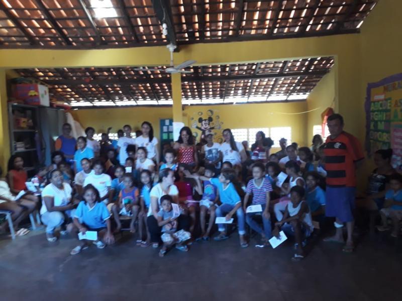 Comitiva de voluntários encerra campanha 18 de Maio em Olho D'água
