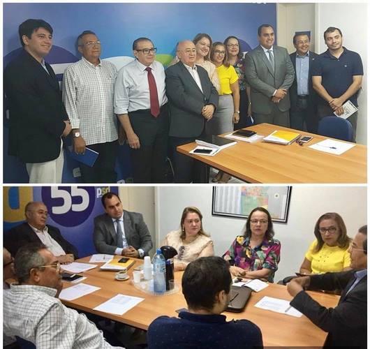 Prefeita de Guadalupe Neidinha Lima participou de reunião no diretório Regional do PSD