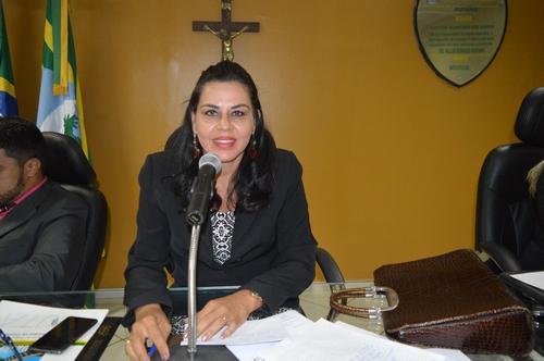 Presidente da Câmara Surama Martins - DEM, pede apoio para seus projetos