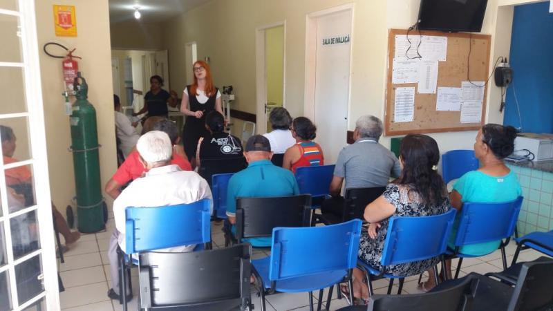 Secretaria de Saúde realiza encontro do Hiperdia em Olho D'água