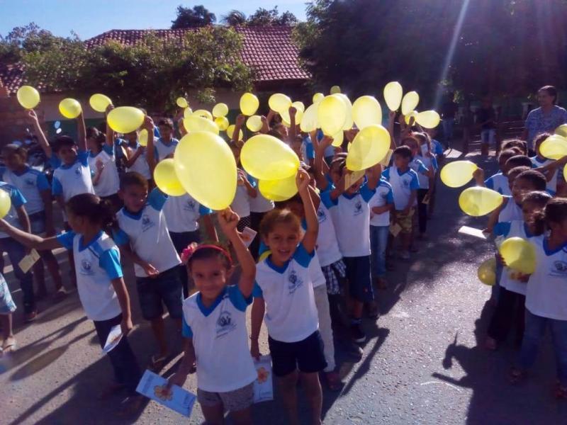 Blitz Faça Bonito contou com participação da Escola Padre João no Povoado Matas