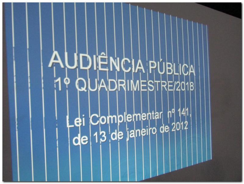 Audiência Pública 1º Quadrimestre/2018-Saúde