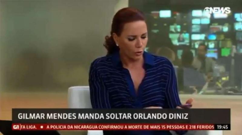 Celular de jornalista da Globo News toca durante transmissão ao vivo