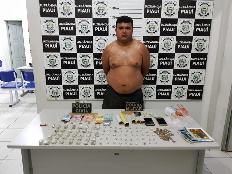 Traficante e homicida é preso na cidade de Luzilândia