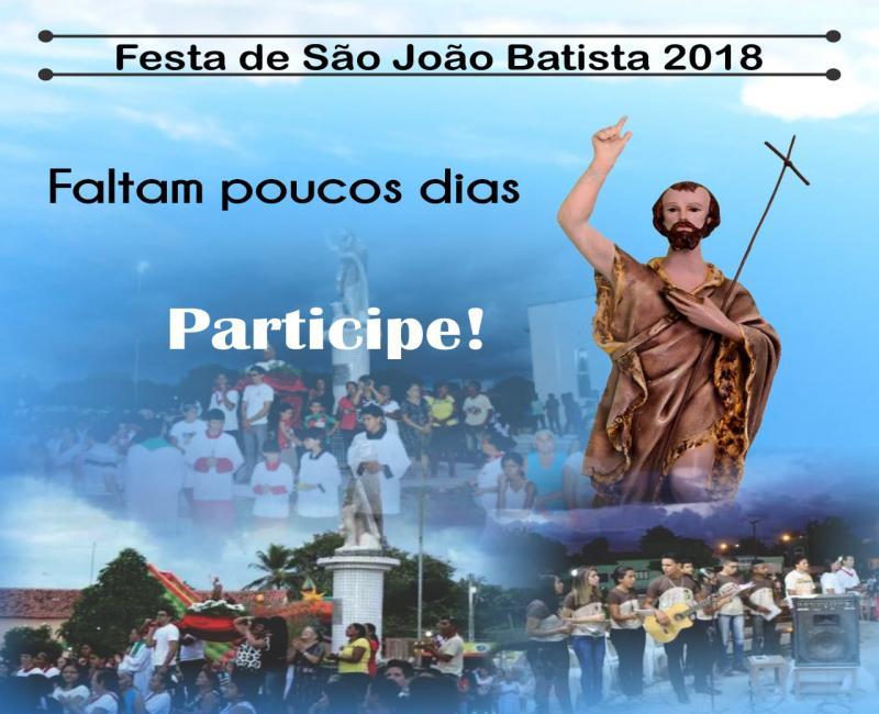 Participe dos festejos do Padroeiro São João Batista em São João do Arraial