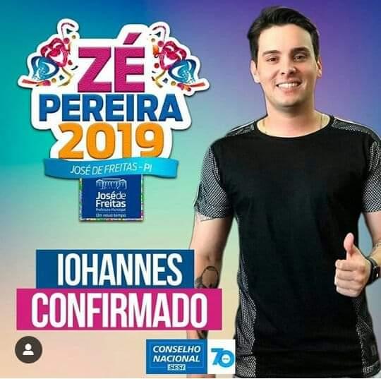 Iohannes é uma das atrações confirmada no Ze Pereira de José de Freitas