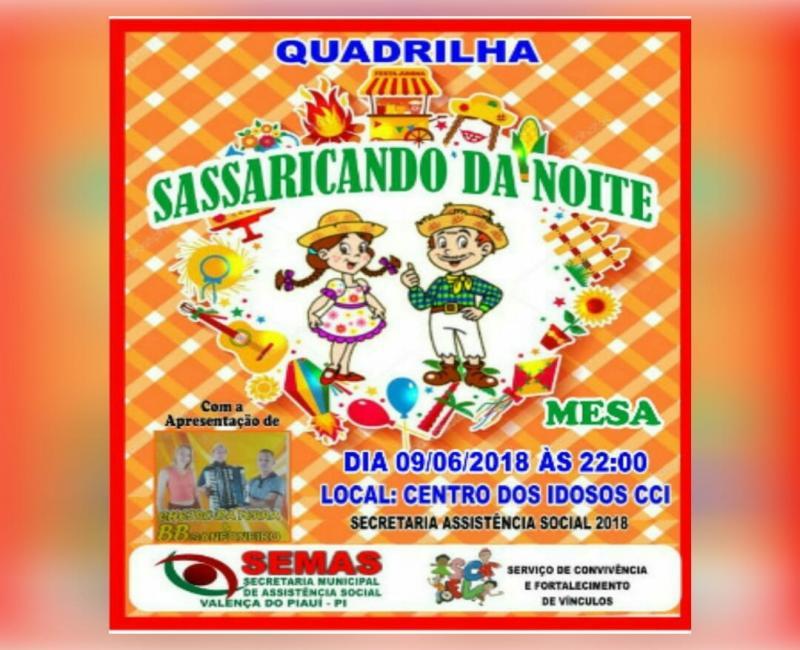 Secretaria de Assistência Social de Valença do Piauí fará arraiá da melhor idade