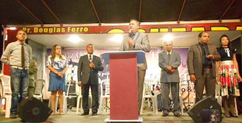 pastor abre o Pré-Jubileu da Assembleia de Deus de Guadalupe