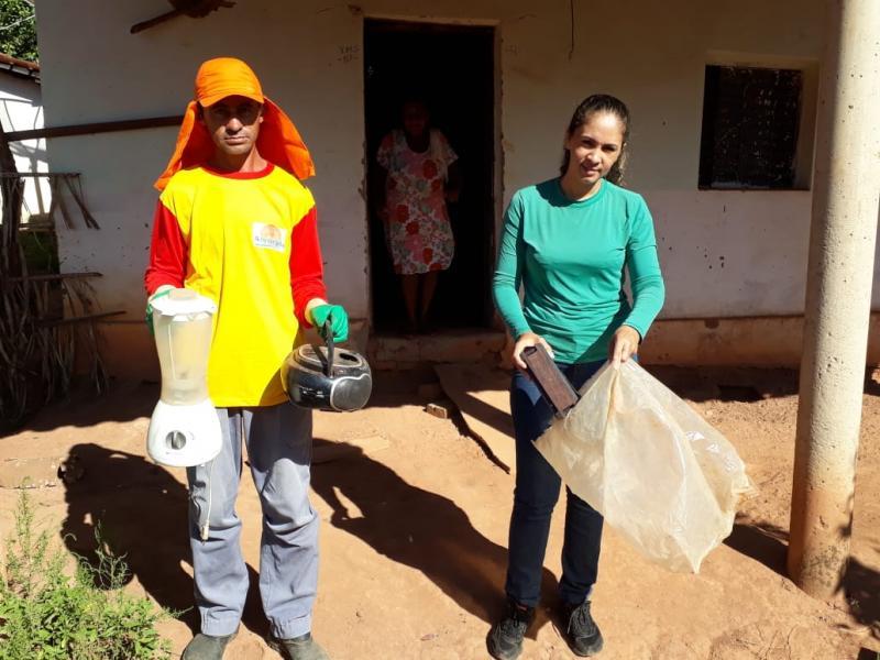 Secretaria do Meio Ambiente realiza coleta de lixo eletrônico no Bairro Betel