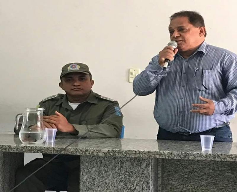 Camara recebe prefeito Carlos Braga e capitão R. Sousa para esclarecimentos sobre segurança pública