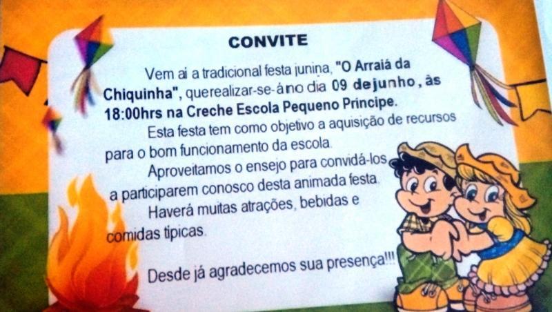 Creche Escola Pequeno Príncipe realiza Arraiá da Chiquinha 2018