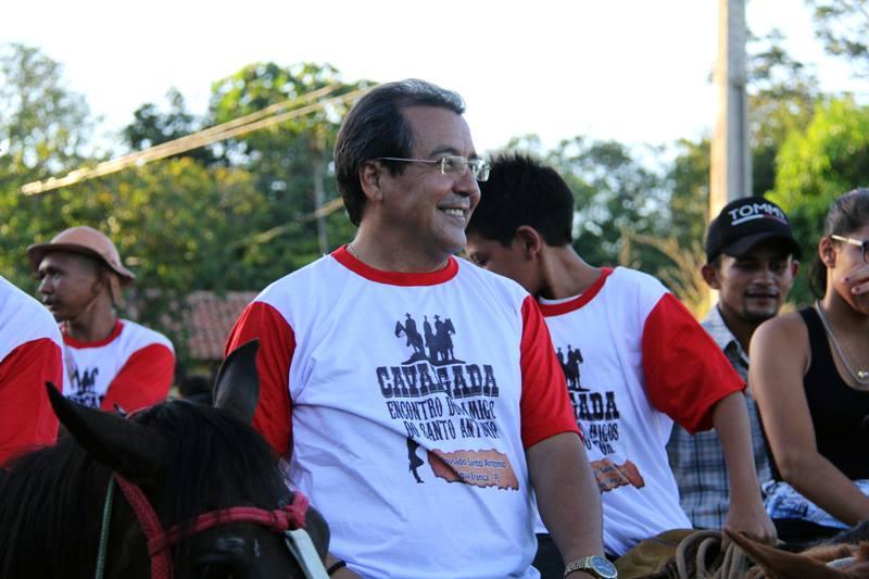 Prefeito Jonas Moura participa da Cavalgada Encontro de Amigos do Santo Antônio