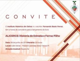 Neto de oeirense lança livro de memórias nesta sexta (08) no Café Oeiras