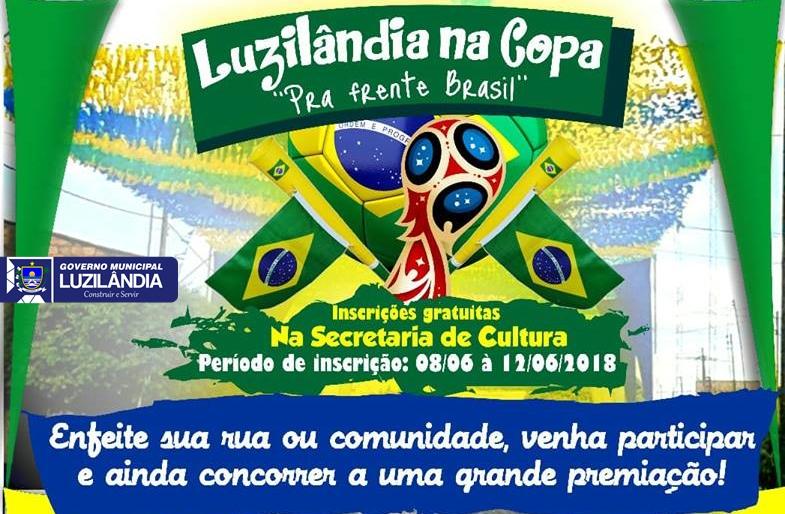 Prefeitura de Luzilândia premiará rua ou comunidade que se destacar na decoração para a Copa