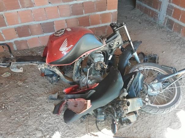 Moto furtada durante o Expoeiras é encontrada depenada em Colônia do Piauí