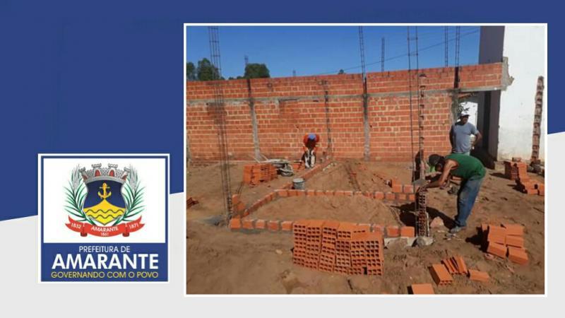 Prefeitura Municipal de Amarante começa reforma do Posto de Saúde no bairro Cajueiro