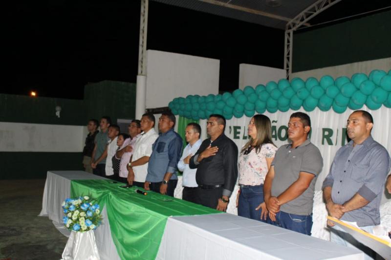 Prefeito de Prata do Piauí participou da implantação do Pelotão Mirim