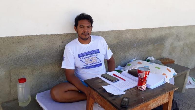 Em defesa da UESPI, professor decreta greve de fome e acampa no campus de Oeiras