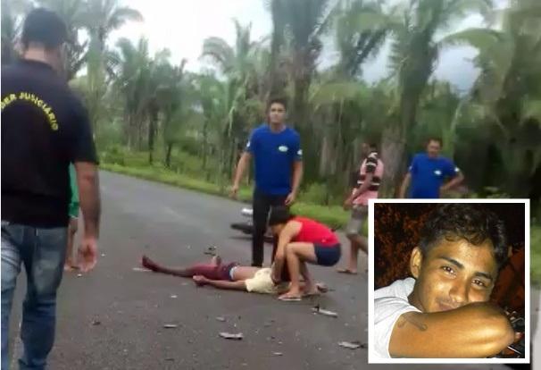 Motociclista morre após colisão com picape na BR-222 entre Esperantina e São João do Arraial