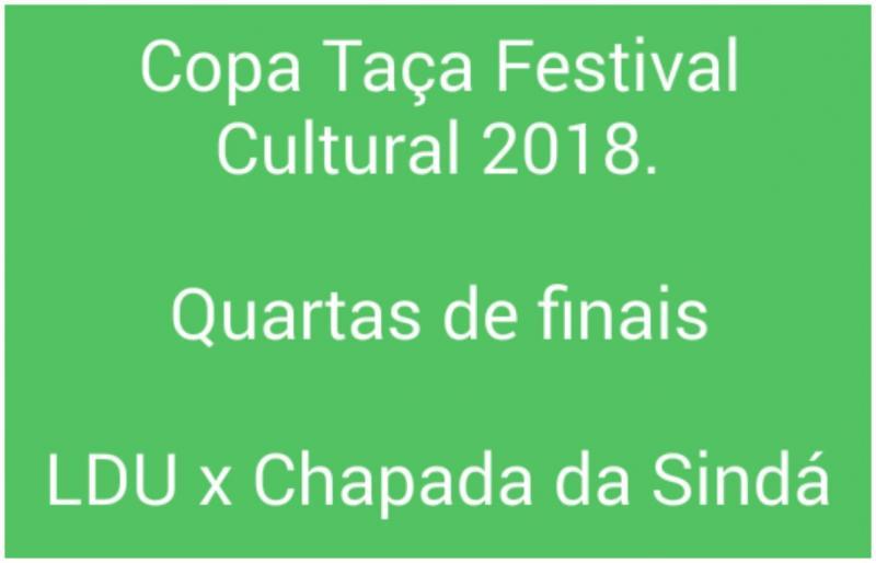 Jogo entre LDU e Chapada da Sindá que seria realizado hoje (09) em São João do Arraial foi  adiado