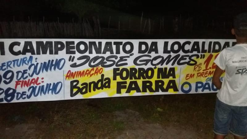 Abertura do III Campeonato de Futebol da localidade José Gomes, em Cabeceiras