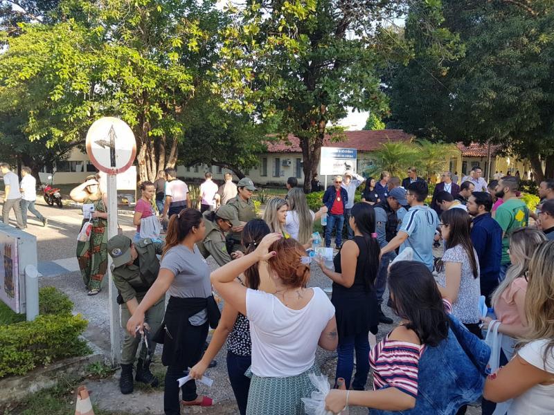 Candidatos em local de prova (Foto: Divulgação/SSPPI)