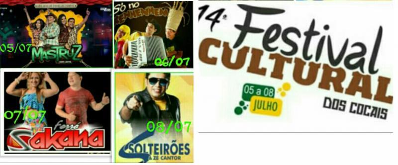 Veja as atrações musicais confirmadas no XIV Festival Cultural dos Cocais