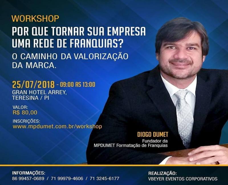 Diogo Dumet em Teresina para workshop de rede de franquias