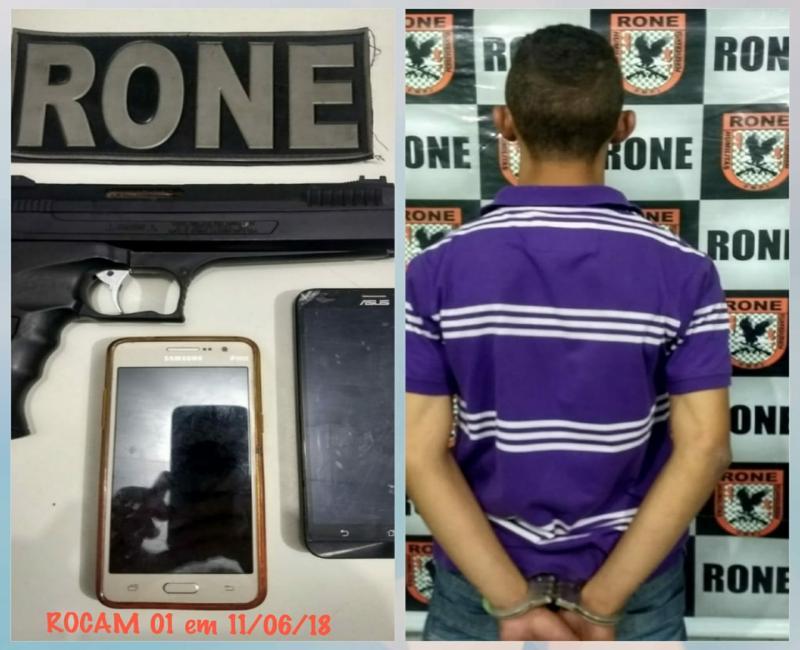 Suspeito de assalto é preso com simulacro de pistola em Teresina