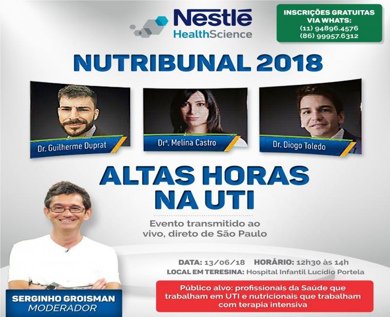 Hospital Infantil Lucídio Portela fará a transmissão do Nutribunal 2018, direto de SP